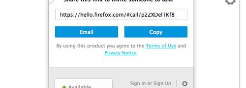 Firefox Hello, conversaciones online de vídeo y voz