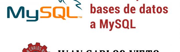 Cómo importar una base de datos MySQL